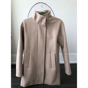 J.Crew cocoon coat in tan - size 0